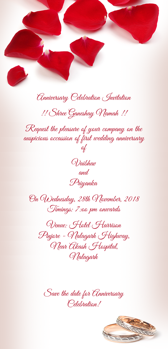 Anniversary Celebration Invitation Free Cards