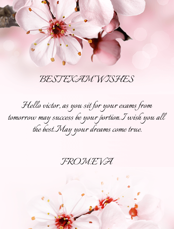 Best Exam Wishes Free Cards