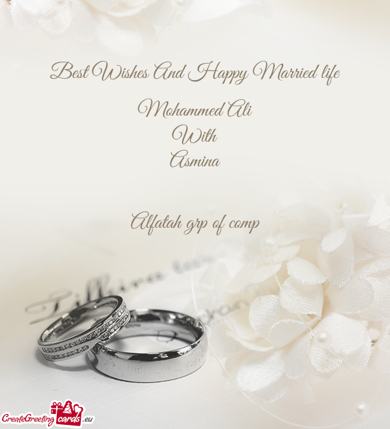 Best Wishes And Happy Married Life Free Cards