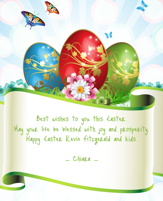 Best wishes to you this Easter May your life be blessed Free cards – Best Wishes in Life