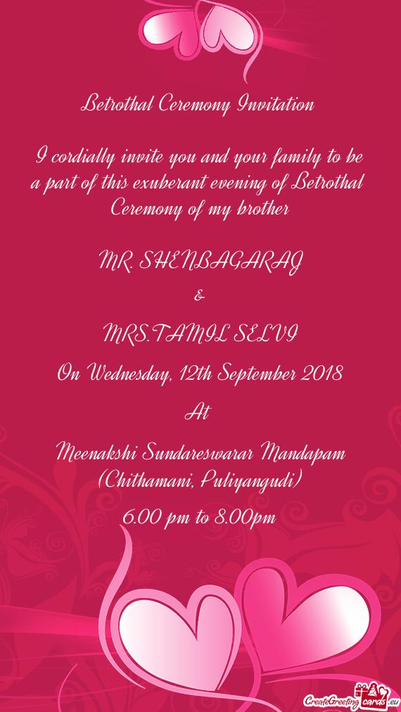 Betrothal Ceremony Invitation Free Cards