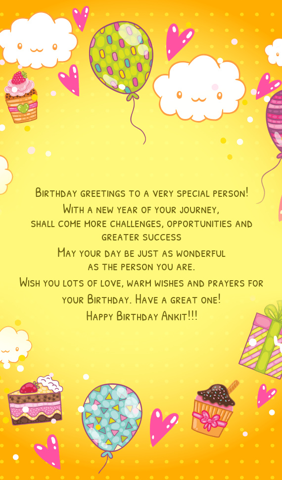 Birthday Greetings To A Very Special Person Free Cards