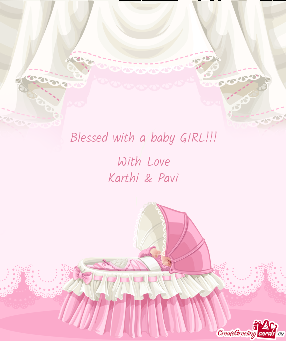 Blessed with a baby GIRL!!!