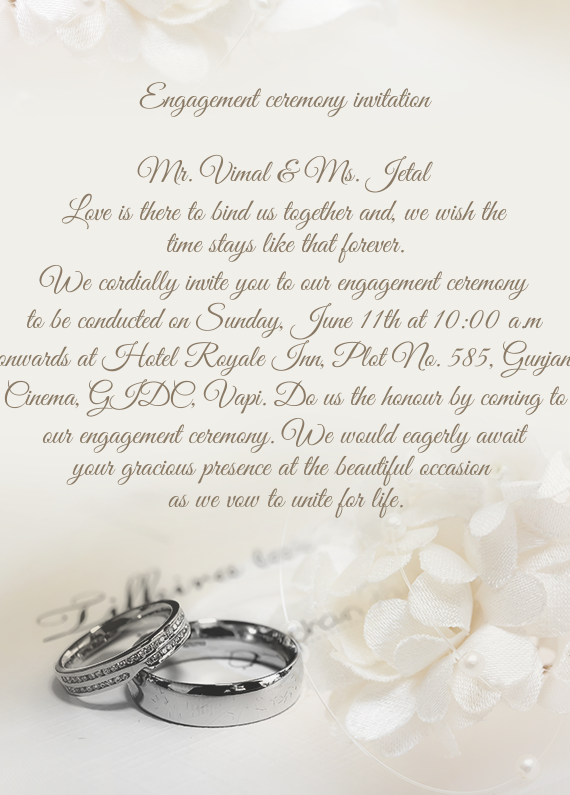 Engagement ceremony invitation free cards download card stopboris Choice Image