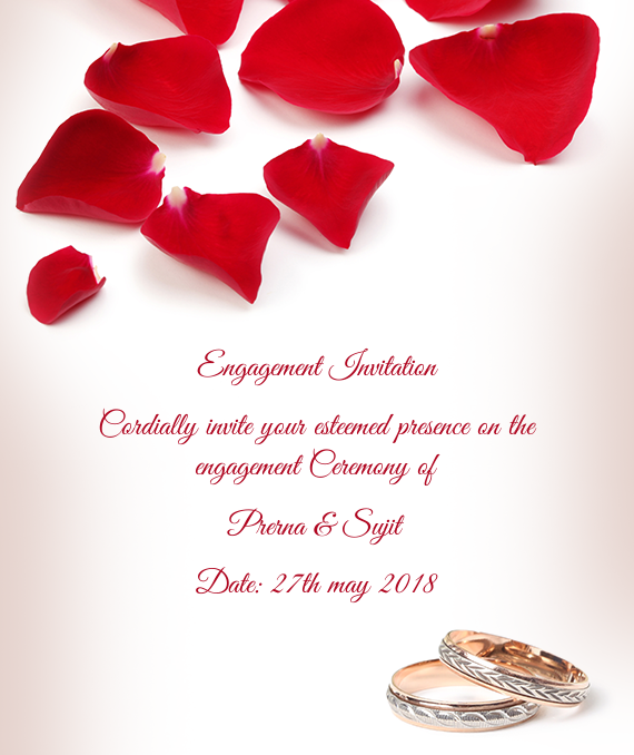 Engagement Invitation Cordially Invite Your Esteemed Free