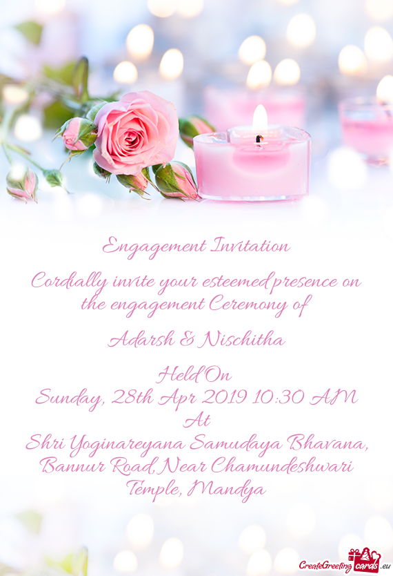 Engagement Invitation     Cordially invite your esteemed