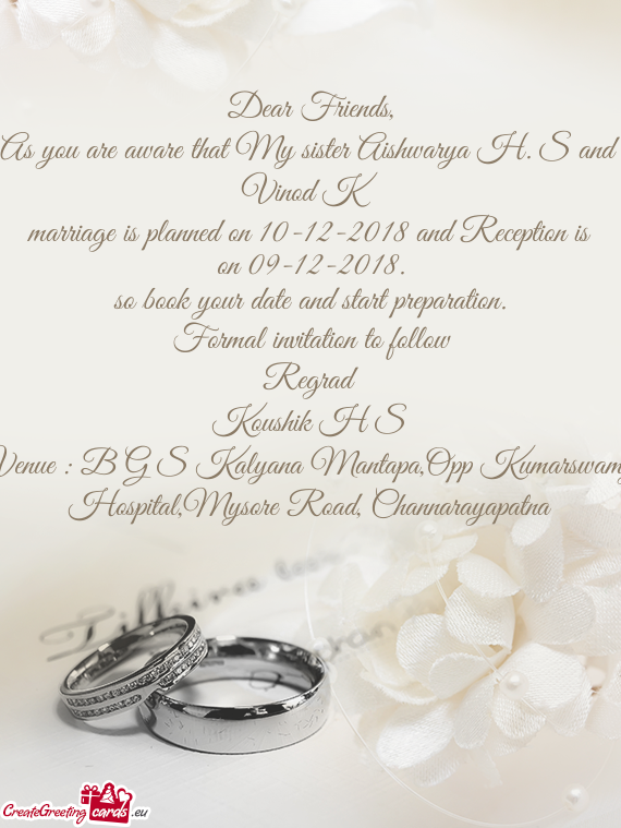 Formal Invitation To Follow Free Cards
