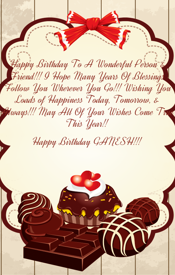 Happy Birthday Ganesh Free Cards
