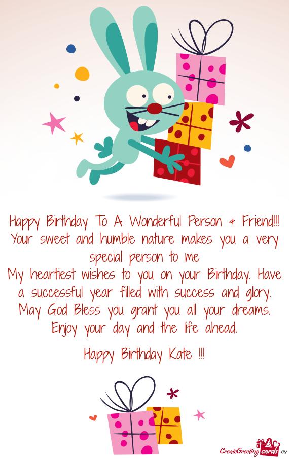 Happy Birthday Kate Free Cards