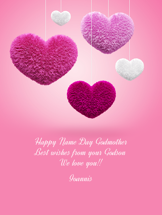 happy name day godmother   free cards