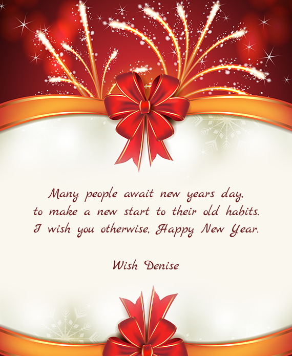 Many people await new years day - Free cards