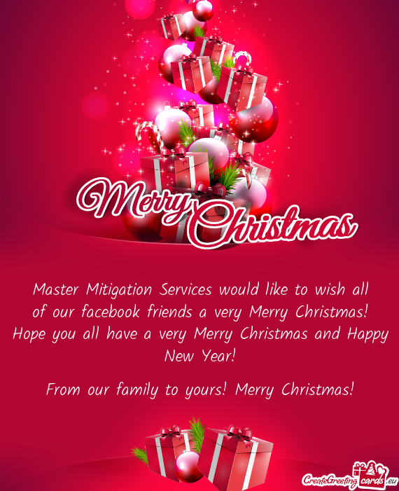 master mitigation services would like to wish all of our facebook