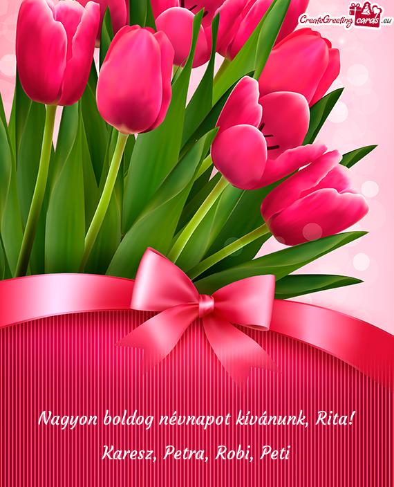 nagyon boldog névnapot kívánok Nagyon boldog névnapot kívánunk, Rita   Free cards nagyon boldog névnapot kívánok