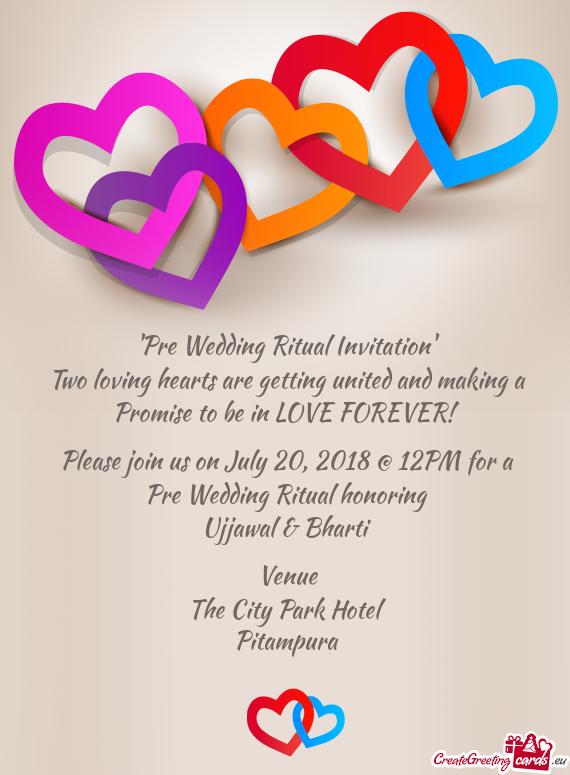 Pre Wedding Ritual Invitation Free Cards