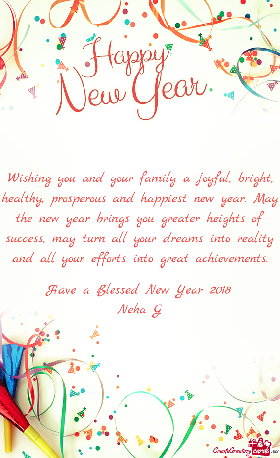 Prosperous and happiest new year - Free cards