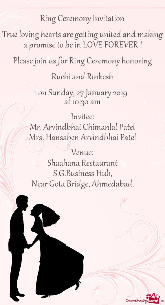 ring ceremony invitation true loving hearts are getting