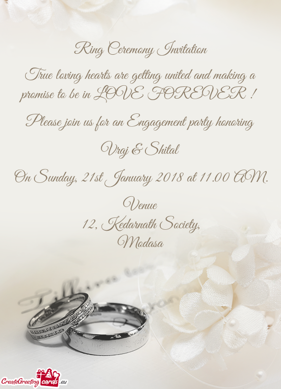 Ring Ceremony Invitation 