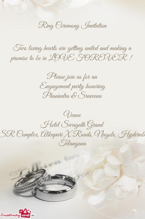 ring ceremony invitation