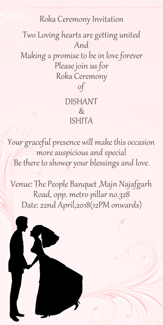 Roka Ceremony Invitation 