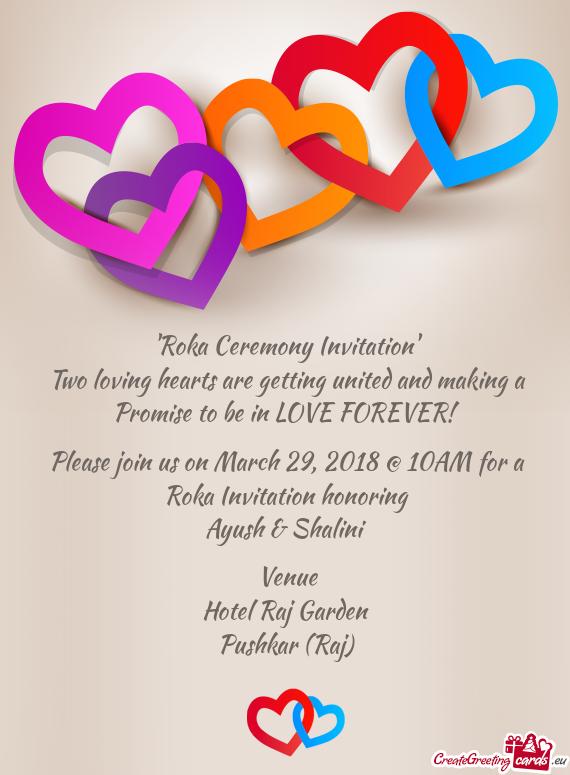 Roka Ceremony Invitation Free Cards