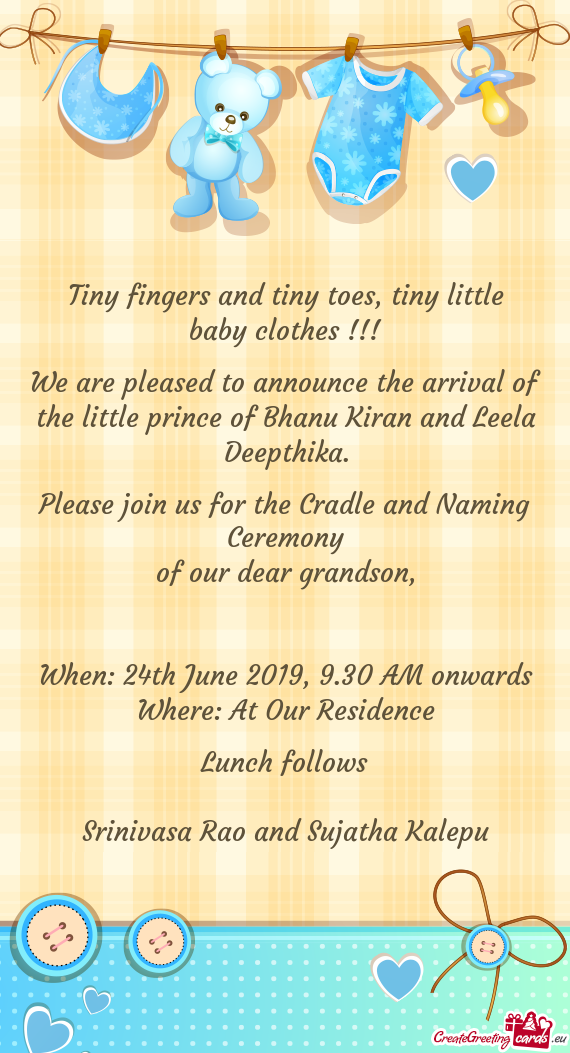 Tiny Fingers And Tiny Toes Tiny Little Baby Clothes Free Cards