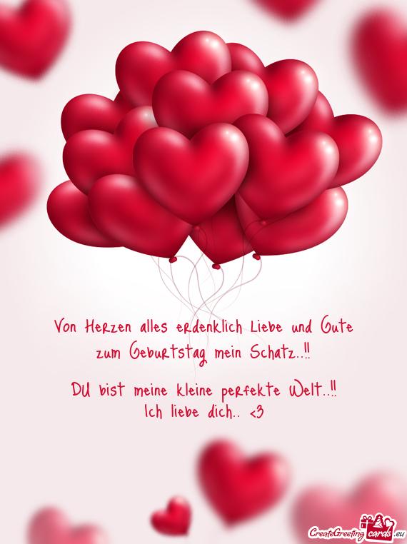 Von Herzen Alles Erdenklich Liebe Und Gute Free Cards