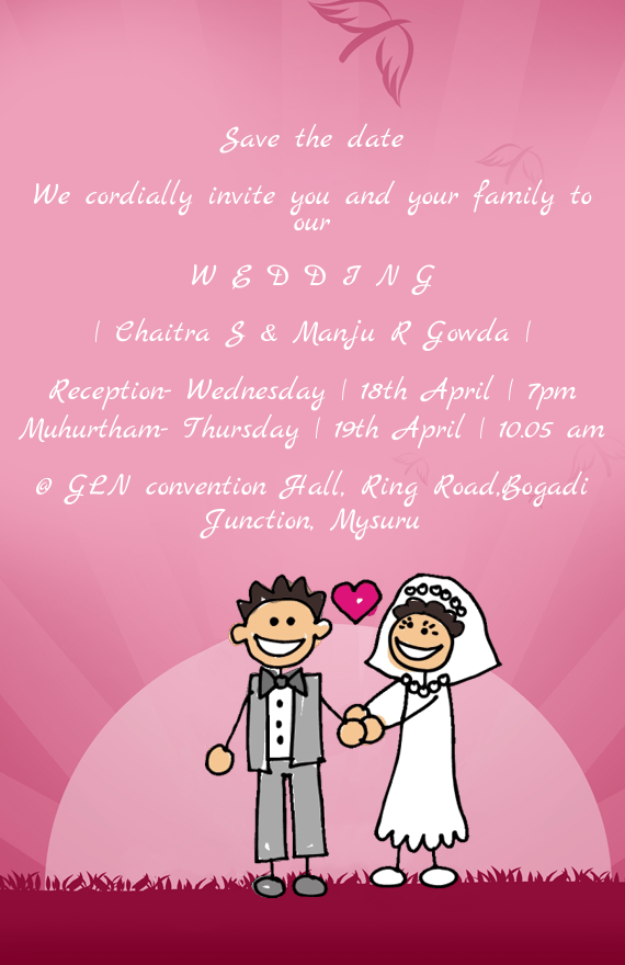 we cordially invite you and your family wedding