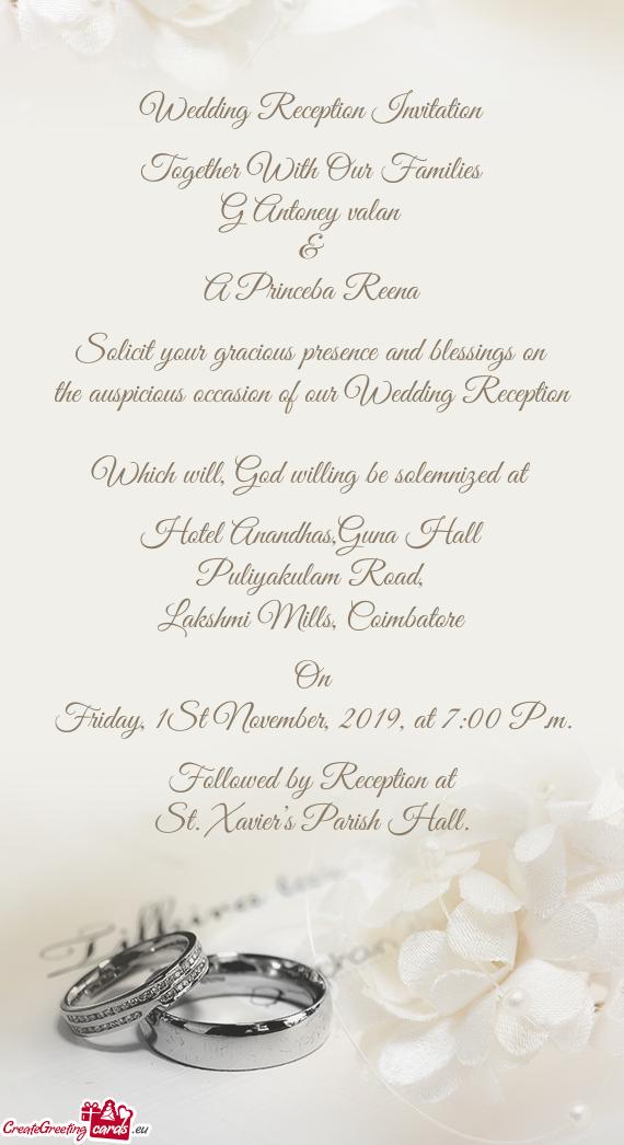Wedding Reception Invitation Free Cards