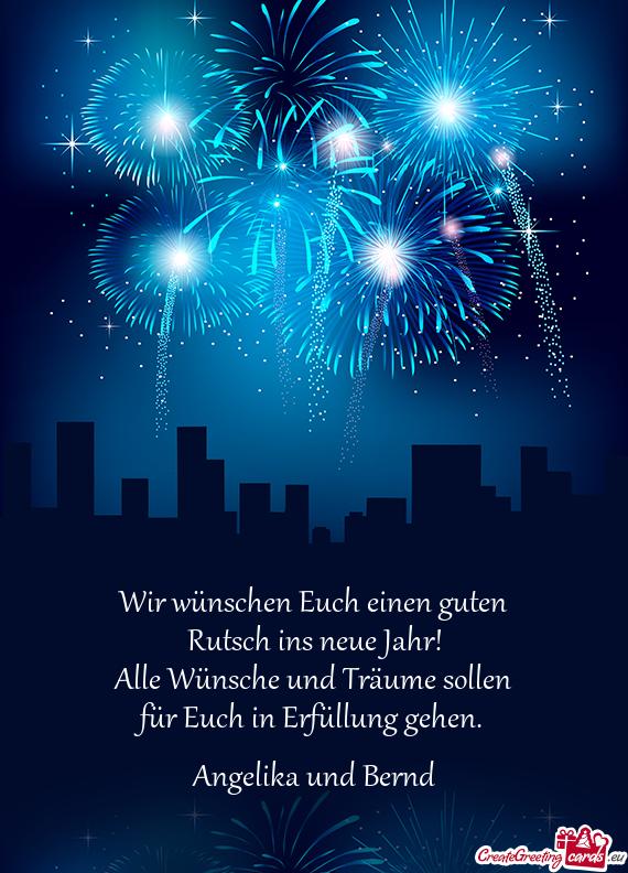 Wir WГјnschen Euch Einen Guten Rutsch Ins Neue Jahr