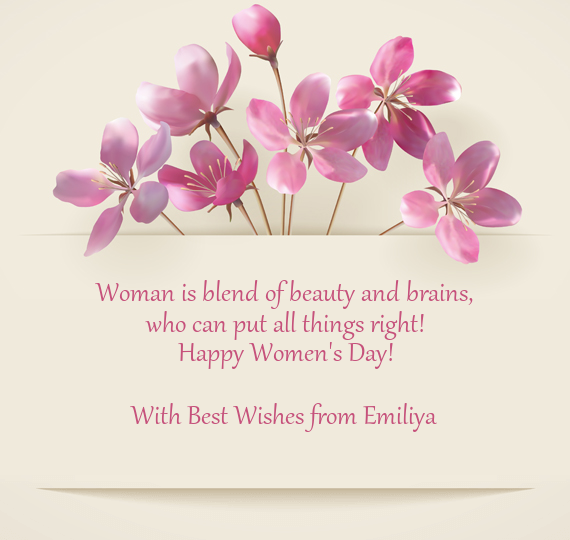 with best wishes from emiliya free cards