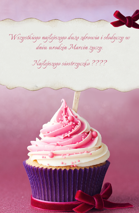 ... dużo zdrowia i słodyczy w dniu urodzin Marcin życzy - Free cards: creategreetingcards.eu/ecard-wszystkiego-najlepszego-duzo-zdrowia-i...