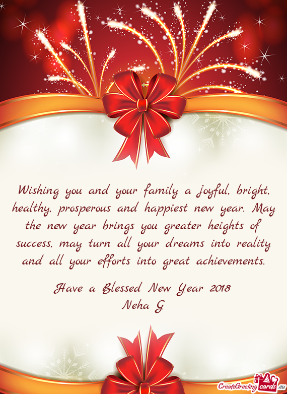 Year brings you greater heights of success, may turn all ...