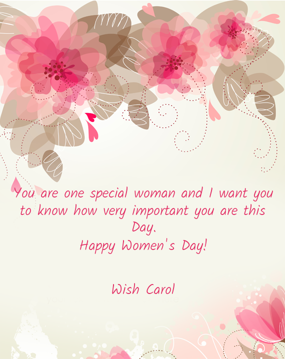 Woman You Are Special