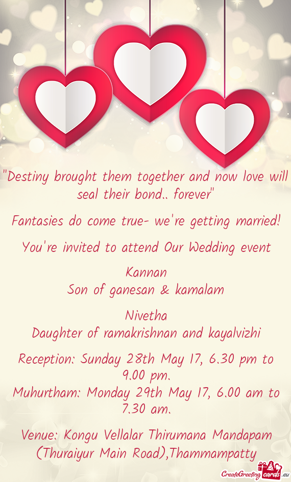 You Re Invited To Attend Our Wedding Event Free Cards